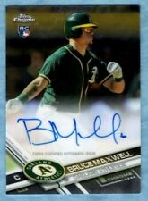 2017 Topps Chrome Baseball ~ Bruce Maxwell ~ A's ~ Rookie Autograph