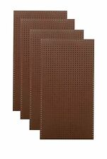 "(4) 24"" x 48"" x 1/4"" Brown Tempered Pegboards"