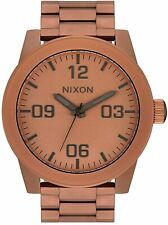 Nixon Men's Corporal SS A3463165-00 48mm Brown Dial Stainless Steel Watch