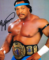 Ron Simmons Autograph Pre Print Wrestling Photo 8x6 Inch WWF WCW