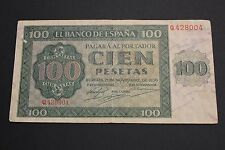 1936 100 PESETAS BURGOS SPAIN BANKNOTE BILLETE VF/MBC