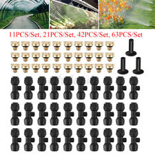 Outdoor Misting Cooling System Garden Irrigation Water Misting Nozzles Set Hose