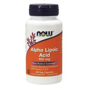 NOW Foods - Alpha acido lipoico 100 mg. - 60 veg caps