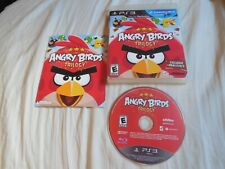 ANGRY BIRDS TRILOGY Playstation 3 PS3 Complete w/ Manual