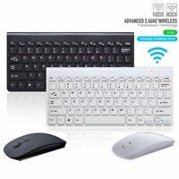 Ultra Thin Set Kit Mini USB 2.4GHz PC Laptop Wireless Keyboard Mouse Combo