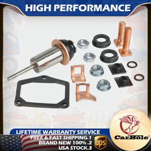 Starter Solenoid Repair Rebuild Kit Plunger&Contacts Set For Toyota Denso Subaru
