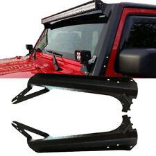 "52"" LED Light Bar Upper Windshield Mounting Brackets For 97-06 Jeep Wrangler TJ"
