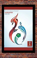 """2018 FIFA World Cup Russia Poster Soccer Tournament   Saransk   13"""" x 19"""""""
