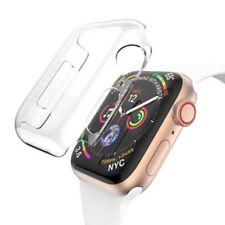 Silikon Hülle Tasche Transparent für Apple Watch 4.Gen 44 mm dünn Case Cover Neu