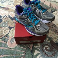 Saucony Women's Omni 13 Running Shoes Silver blue purpl  8 wide 8W Free Ship NIB