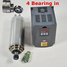 4KW Four Bearings Water-cooled Spindle Motor and 4KW Drive Inverter VFD CNC