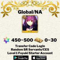[English/Global/NA] Skadi Fate/Grand Order FGO Starter Account