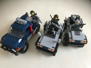 LEGO parts only SPECIAL FORCES 4 minifigures + 3 OFF ROAD CARS (6867 & 75926) u1