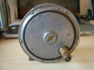 """Rare and Unusual Alloy and Ebonite Combination Salmon Fly Reel. 4 1/2""""."""