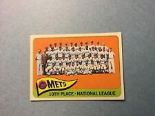 1965 TOPPS METS TEAM BASEBALL CARD #551 - GOOD CONDITION! METS