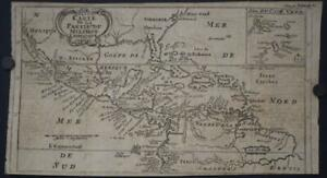 CENTRAL AMERICA SOUTHERN UNITED STATES MEXICO 1712 DAMPIER UNUSUAL ANTIQUE MAP