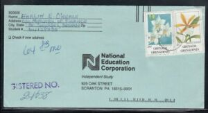 GRENADA Commercial Cover St. George's to Scranton, PA 12-10-1994 Cancel
