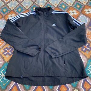 Adidas Clima-365 Women's Windbreaker Full Zip Jacket Black & White Size MD