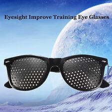 Vision Care Eyesight Improve Training Eye Glasses Eyewear Anti-fatigue Black