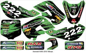 KAWASAKI KX65 2010 - 2018 graphics decals vinyl B Motocross MX decals stickers
