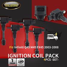 4x Ignition Coils Pack for Infiniti Q45 M45 FX45 VK45DE 2003-2008 V8 4.5L UF-482