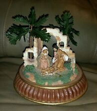 Roman Inc. Nativity 2006 Piece Baby Jesus Mary Joseph Palm Trees Rare Htf Only 1