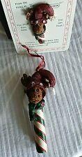 Boyds Resin Ornament& Pin~ Monty & Little Monty Dandycane~Moose~Both New~Wow