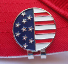 American Flag Golf Ball Marker w/Magnetic Hat Clip