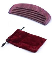 Natural Anti-static Violet Sandal Wood Hair Pocket Comb Message Travel Comb