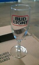 (4) New Vintage Bud Light 10 oz Stemmed Beer Goblet Glasses