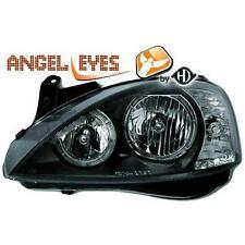 Par Faros Delanteros Tuning OPEL CORSA 00-06 negros, DEPO con anillos ANGEL