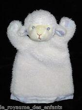 Doudou Marionnette Mouton écru beige Burberry Baby Touch 21 cm