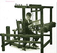 Edwardian foot power floor loom plan weaving pattern CD
