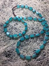 Natural Amazonite Gemstone Teardrop Women necklace Bracelet  Jewelry sets