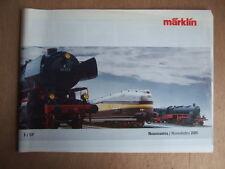MARKLIN CATALOGUE NOUVEAUTES NOVEDADES 2005 MODESLISME FERROVIAIRE TRAINS