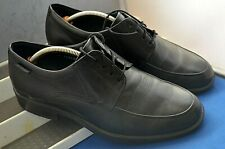 MEPHISTO AIR~JET SMART CLASSIC BLACK LEATHER TWIN DERBY SHOES UK 8 EU 42 US 8.5