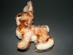 STEIFF RABBIT VGC 1960?  STIFF MATERIAL.  NO TAGS OR BUTTONS