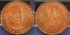 $10 Copper sample 2000 A Germany FRG without Edge font (Bach) mint-fresh-st