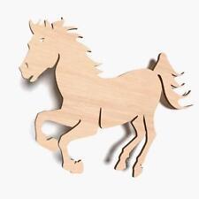 10x Pferd XL Tier blank Form Holz Basteln Bemalen Aufhängen Dekoration (X3g)