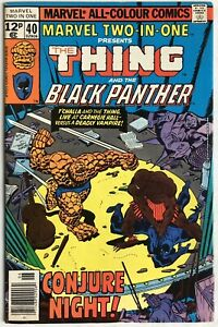 Marvel Two-In-One Vol 1 #40 (1978) The Thing & Black Panther UK Pence Variant
