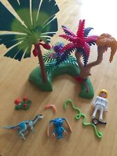 HUC COMPLETE WITH BOX PLAYMOBIL SUPER 4 LOST ISLAND WITH ALIEN RAPTOR - 6687
