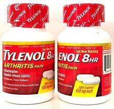 TYLENOL 8-HR ARTHRITIS PAIN RELIEVER 2X100 CAPLETS 650 mg ACETAMINOPHEN EX 1218+