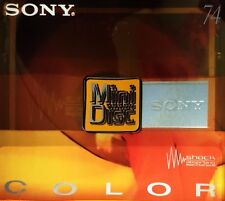 Sony couleur (Orange) Mini Disc MDW74CRY antichoc neuf & scellé