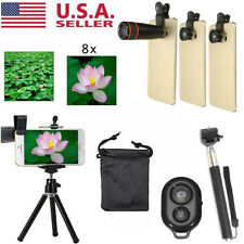 All in 1 Accessories Camera Lens Selfie Stick Top Travel Kit For Mobile Phone US