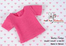 ☆╮Cool Cat╭☆27.【NS-27】Blythe Pullip T-Shirt # Deep Pink