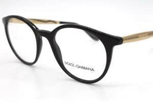 Dolce & Gabbana DG 3292 Eyeglasses Black Gold 501 Authentic 50mm