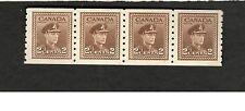 Canada SCOTT #264 KING GEORGE VI  MNH Strip of 4 Fine