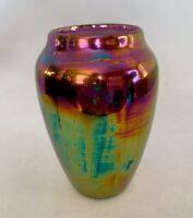"""Antique Iridescent Porcelain Vase/Urn-4.5"""""""