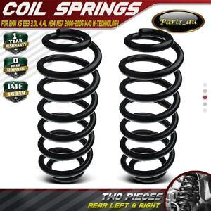 2x Rear Coil Springs for BMW E53 X5 3.0L 4.4L M54 M57 w/o M-technology 2000-2006