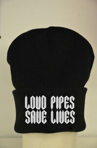 Loud Pipes Save Lives Bike Beanie Lots Of Colours - Cotton Custom Hat Gift